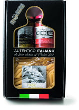 Load image into Gallery viewer, Arrabbiata and Pesto Sauce Pasta Kit Autentico Italiano, By Antico Pastificio Umbro 3pc - [Premium Italian Food at Home ]