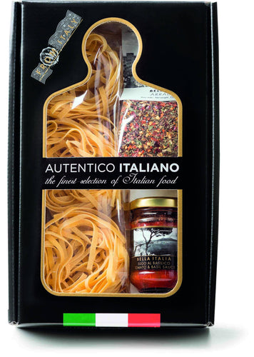 Tomatoes Basil Sauce and Piccantissimo Pasta Kit Autentico Italiano, By Antico Pastificio Umbro 3pc - [Premium Italian Food at Home ]