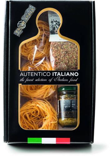 Genovese Basil Pesto and Sicilian Spice Mix Pasta Kit Autentico Italiano, By Antico Pastificio Umbro 3pc - [Premium Italian Food at Home ]