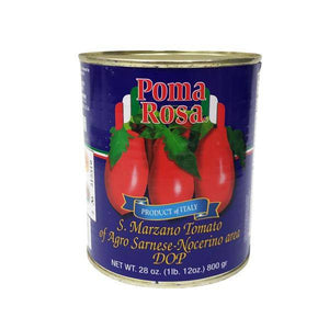 "San Marzano Tomato of ""Agro Sarnese-Nocerino Area"" DOP by Poma Rosa - 28 oz - [Premium Italian Food at Home ]"