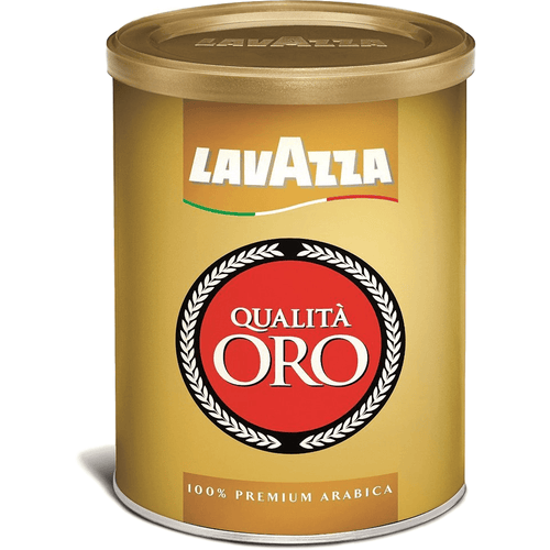 Lavazza Qualità Oro Premium Selection Gold Espresso | Coffee Ground Tin by Lavazza - 8 oz. - [Premium Italian Food at Home ]