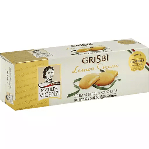 Grisbi Cookies Lemon by Vicenzi 5.29oz - [Premium Italian Food at Home ]