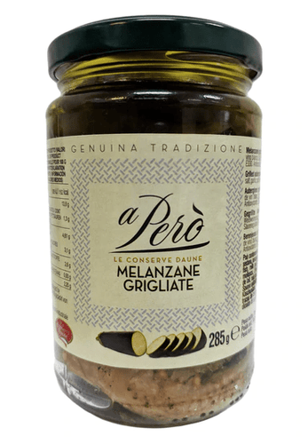 Grilled Melanzana Aubergines, by A Pero' 10 oz - [Premium Italian Food at Home ]