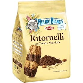 Ritornelli Cookies with Almonds and Cocoa (700 grams) by Mulino Bianco - 24.7 oz - [Premium Italian Food at Home ]
