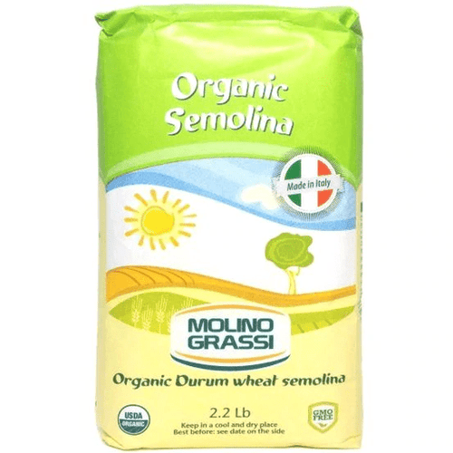 Italian Organic Durum Semolina by Molino Grassi - 2.2 lb. - [Premium Italian Food at Home ]
