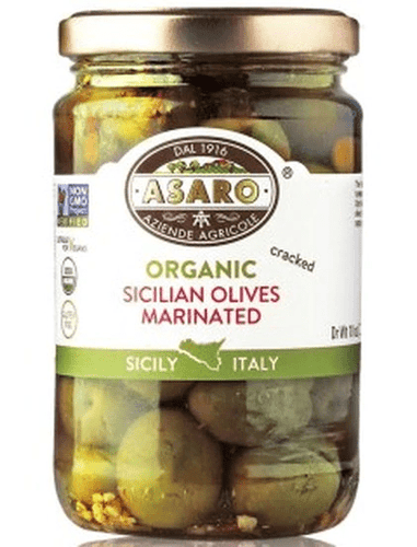 Sicilian Marinated Cracked Olives, by Asaro Farm 6 oz - [Premium Italian Food at Home ]