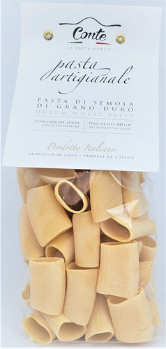 Artisanal Paccheri Pasta 100% Durum Wheat Pasta by Pastificio Conte 500gr - [Premium Italian Food at Home ]