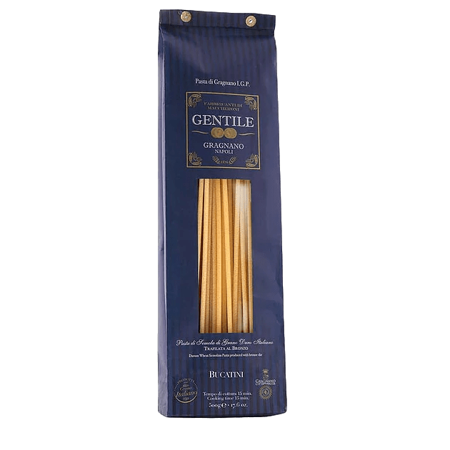 Bucatini Pasta di Gragnano by Pastificio Gentile - 1.1 lb - [Premium Italian Food at Home ]