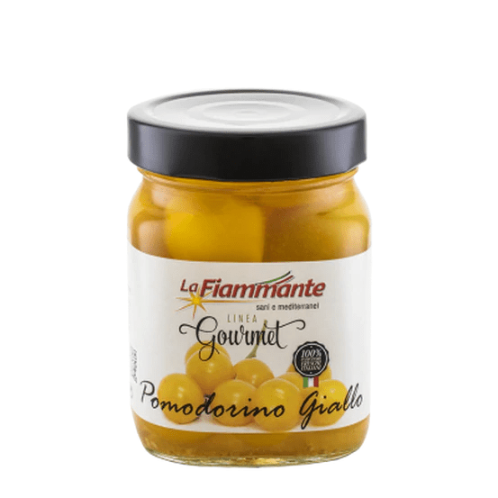 Pomodorino Giallo Yellow Cherry Tomatoes, by La Fiammante 12 oz - [Premium Italian Food at Home ]