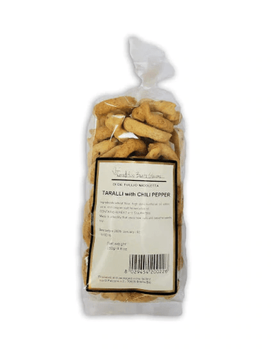 Taralli Red Pepper Peperoncino by Beato Giacomo, 250 grams - [Premium Italian Food at Home ]