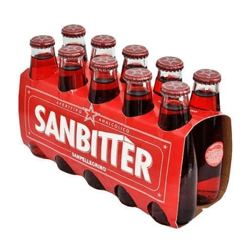 Sanbitter non-alcoholic red bitter aperitif by San Pellegrino - 10 x 100 ml - [Premium Italian Food at Home ]
