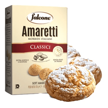Classic Soft Macaroons Amaretti with Almonds by Falcone - 5.9 oz - [Premium Italian Food at Home ]