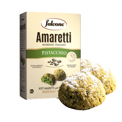 Soft Macaroons Amaretti with Pistachio by Falcone - 5.9 oz - [Premium Italian Food at Home ]