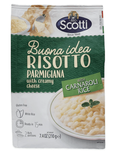 Risotto Parmigiana Creamy Cheese with Carnaroli Rice, by Scotti 7.4 oz - [Premium Italian Food at Home ]