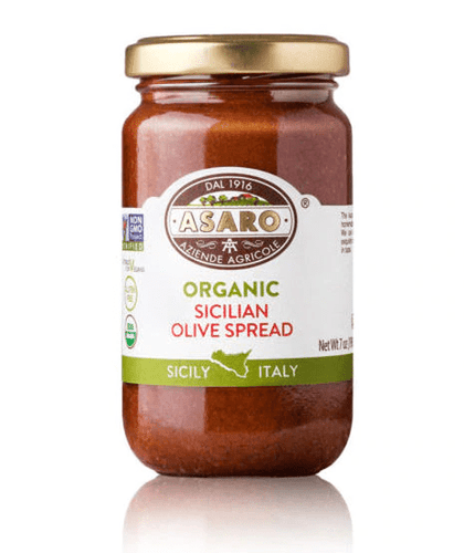 Organic Sicilian Olive Spread, by Asaro Farm 7 oz - [Premium Italian Food at Home ]