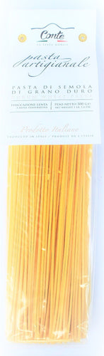 Artisanal Spaghetti alla Chitarra Pasta 100% Durum Wheat Pasta by Pastificio Conte 500gr - [Premium Italian Food at Home ]