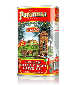 Extra Virgin Olive Oil Tin - by Partanna 500ml - [Premium Italian Food at Home ]