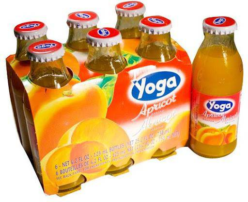 Apricot Nectar by Yoga (6 bottles x 4.2 fl oz) - Net 25.2 fl oz - [Premium Italian Food at Home ]