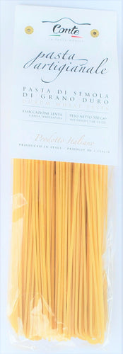 Artisanal Vermicelloni Pasta 100% Durum Wheat Pasta by Pastificio Conte 500gr - [Premium Italian Food at Home ]