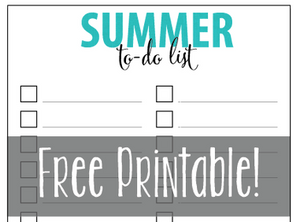 Summer To-Do List - FREE Printable!