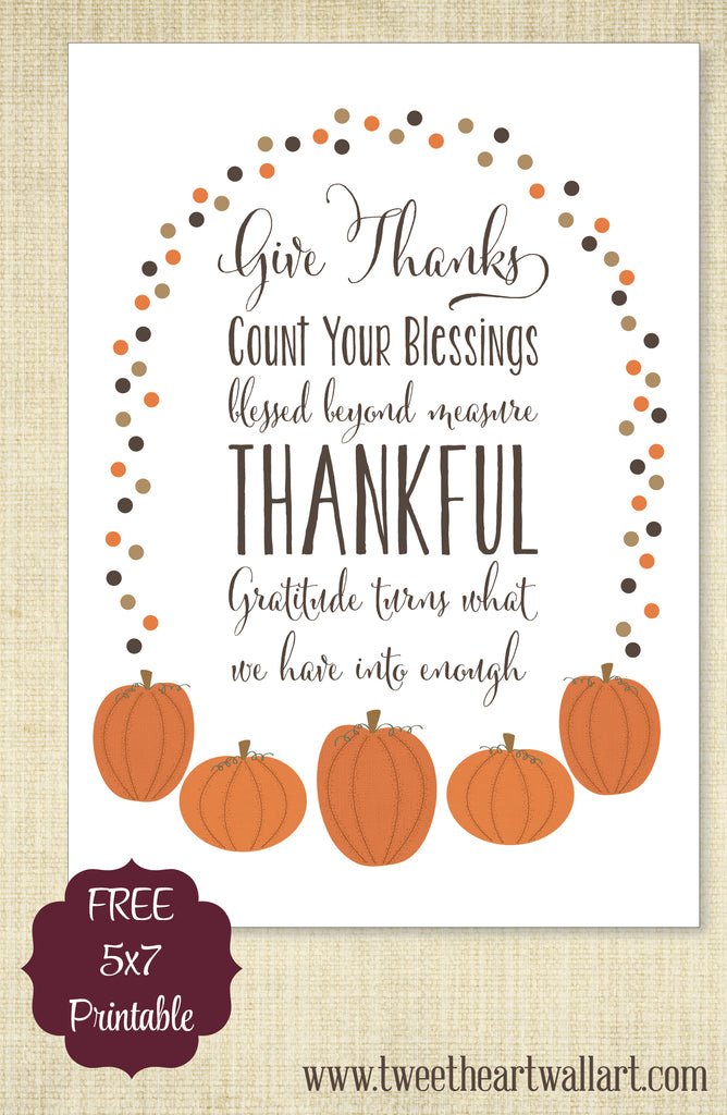 photograph relating to Give Thanks Printable known as Present Owing - A absolutely free Thanksgiving printable for yourself
