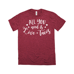 Limited Edition - Love and Tacos T-Shirt - Red