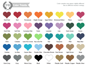 Tweet Heart Wall Art Color Chart