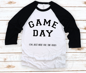 Game Day - I'm just here for the food - Free SVG File, Football SVG File - Instant Download