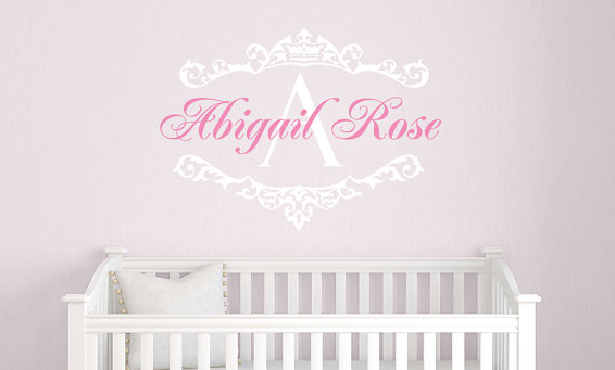 Princess Name Decal & Monogram Set