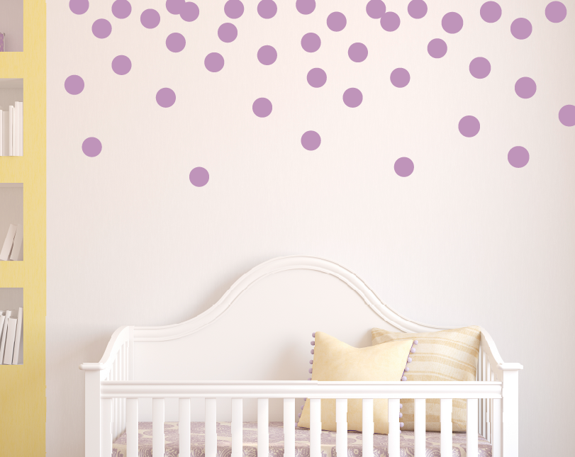 "3"" Polka Dot Wall Decals"