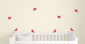Little Birds Wall Decals - Set of 8
