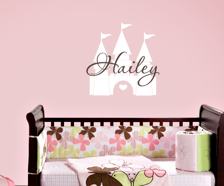 Princess Castle and Name Decal Set
