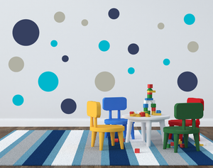 Large Polka Dot Wall Decal Set - Assorted Sizes