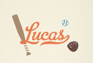 Baseball Name Decal Set