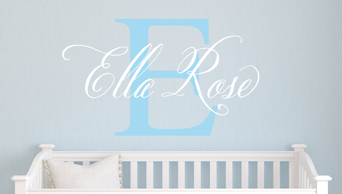 Elegant Name Decal