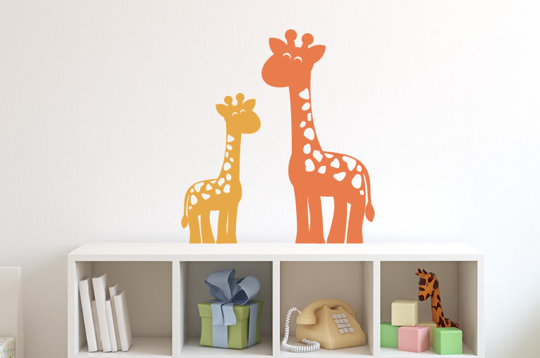Mom U0026 Baby Giraffe Wall Decal ...