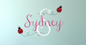 Ladybug Name & Monogram Decal Set
