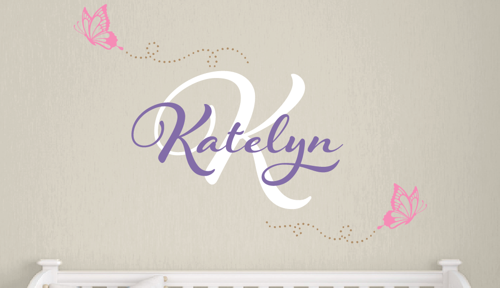 Butterfly Name & Monogram Set