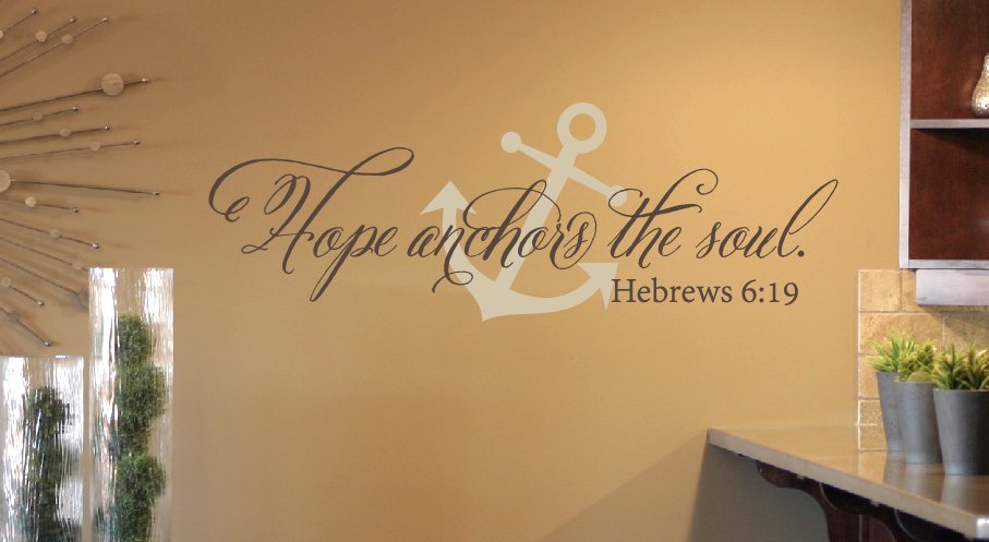 hope anchors the soul wall decal set