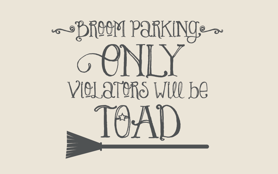 Broom Parking Wall Decal