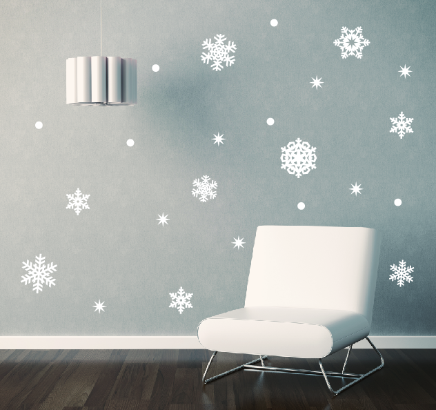 Delightful Snowflake Wall Decal Set ...