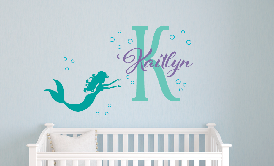 Awesome Mermaid Name Decal Set ...