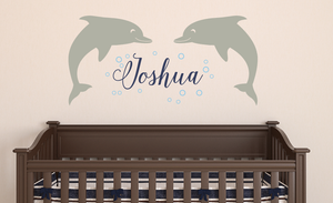 Dolphin Name Decal Set - Cursive Font