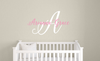 Handwritten Name Decal & Monogram Wall Decal Set