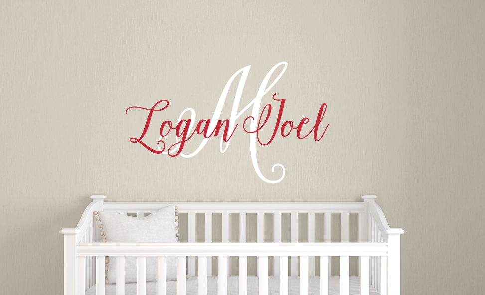 Handwritten Name Decal U0026 Monogram Wall Decal ...
