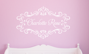 Flourished Name Decal