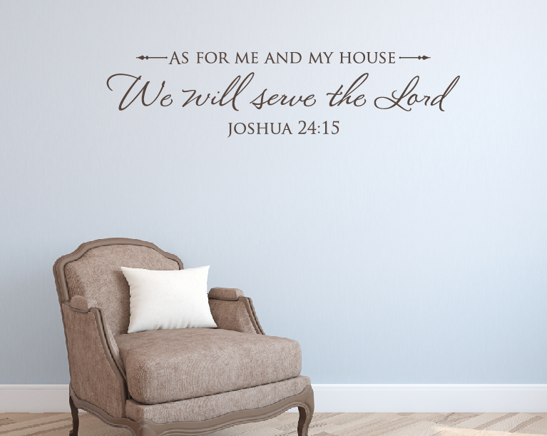 As For Me And My House Wall Decal Serve The Lord Wall Decal - Wall decals christian