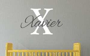 Cursive Name Decal & Initial Set