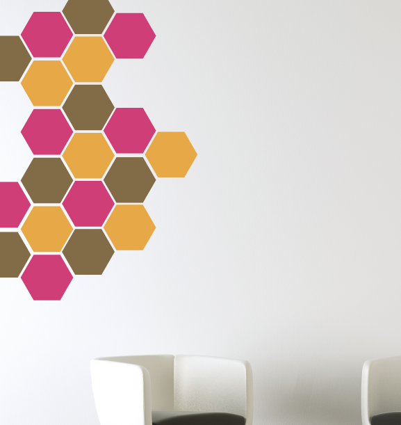 Honeycomb Wall Decals