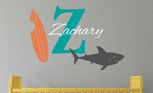 Shark Name Decal Set